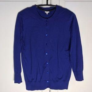 J. Crew Cobalt Blue Button Down Sweater